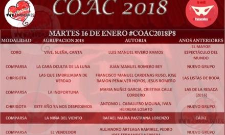 Octava sesión de Preliminares del COAC 2018