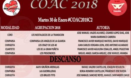Segunda de Cuartos del COAC2018 #COAC2018C2