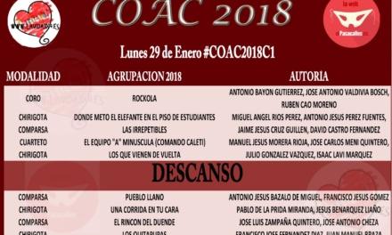 Primera sesión de Cuartos del COAC 2018 #COAC2018C1