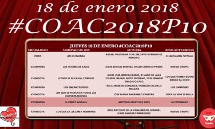 Décima sesión de Preliminares del COAC 2018 #COAC2018P10