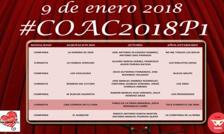 Primera Sesión de Preliminares COAC 2018 #COAC2018P1