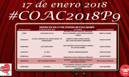 Novena sesión de Preliminares del COAC 2018