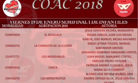 Primera Semifinal de Infantiles del COAC2018 #COAC2018INFS1