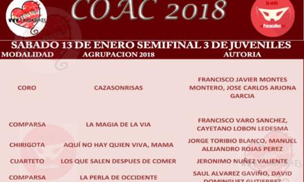 Tercera Semifinal de Juveniles del COAC 2018 #COAC2018JUS3