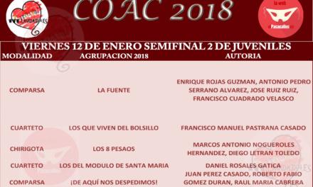 Segunda Semifinal de Juveniles del COAC 2018 #COAC2018JUS2