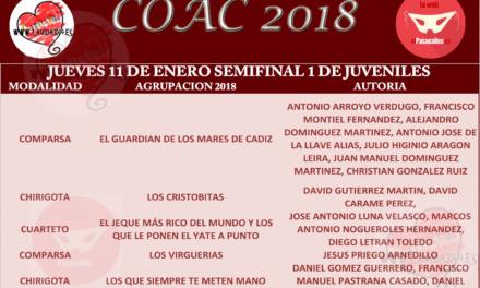 Primera Semifinal de Juveniles COAC2018 #COAC2018JUS1