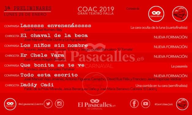 Tercera sesión de preliminares del COAC 2019