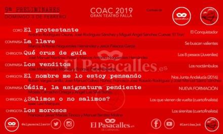 Novena sesión de preliminares del COAC 2019